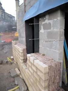 Cavity wall at Golcar Passivhaus