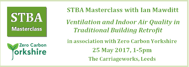 STBA Masterclass Ventilation and Indoor Air Quality in Traditional Building Retrofit