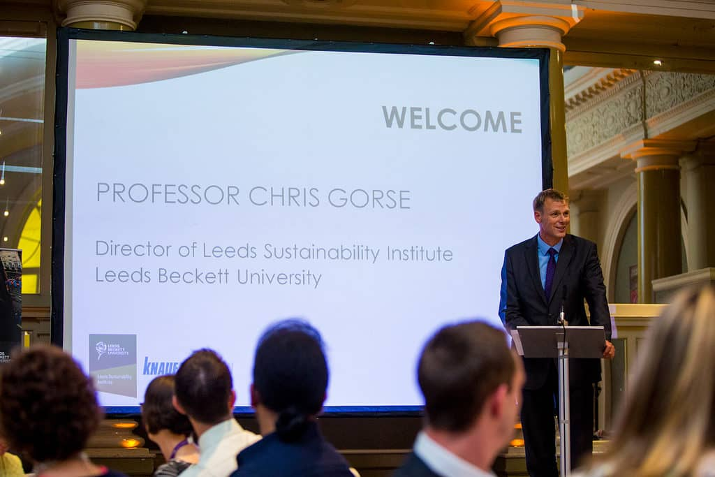 Professor Chris Gorse at RISE Awards 2016