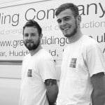 Chris Ewart (Lead Fitter) and Nathan Addy, Green Building Store Window fitting team