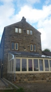Conservatory outside thermal envelope at Cumberworth radical retrofit
