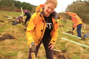 Green Building Store planting trees with Trees for Yorkshire