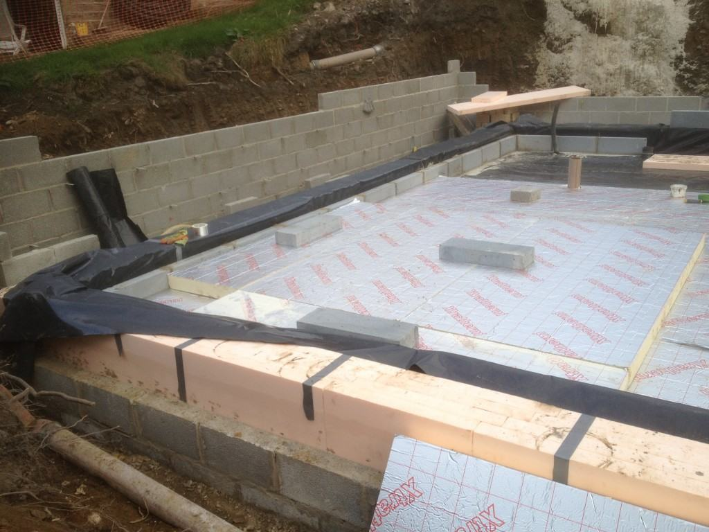 Golcar Passivhaus ground floor and foundations