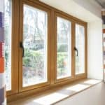 Low energy newbuild Berkshire Oak triple glazed window