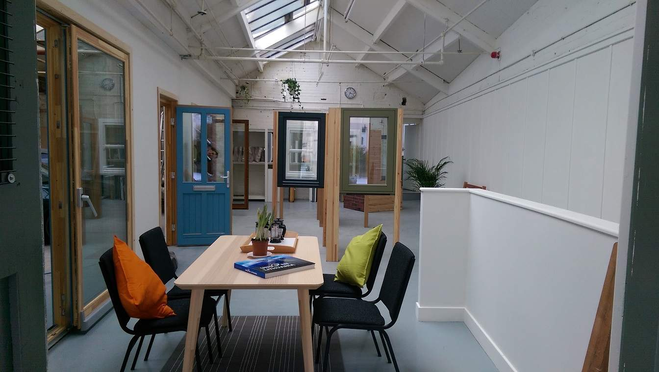 Green Building Store Huddersfield timber window door showroom