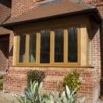 Triple glazed oak windows at Berkshire newbuild