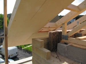 Building the Denby Dale Passivhaus: continuity of insulation in the roof space
