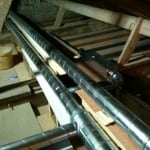 Ducting for MVHR system at Rectory Cottage EnerPHit