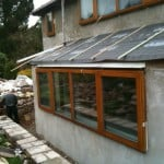 installing windows at Rectory Cottage EnerPHit
