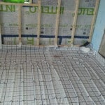Underfloor heating at Cumberworth radical retrofit