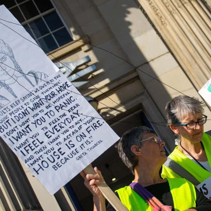 Camilla Govan at Global Climate Strike Huddersfield