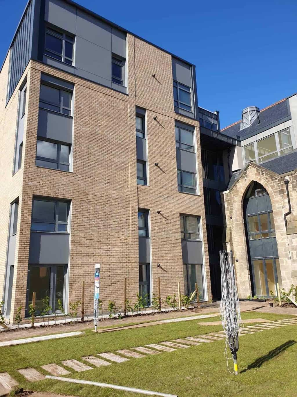 Carntyne Church Passivhaus Flats, Glasgow with ULTRA triple glazed timber windows from Green Building Store
