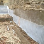 Cavity drain membrane - Stirley Farm low energy barn conversion