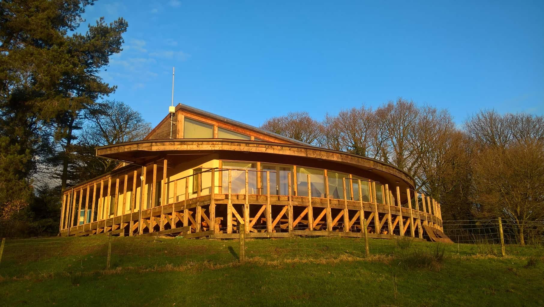 Cuerden Valley Park Visitor Centre with triple glazed timber windows and doors from Green Building Store