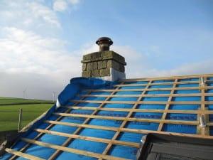 Cumberworth retrofit Pro Clima Solitex windtightness barrier plus rooflights