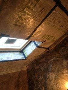 Cumberworth retrofit warm roof continuity of airtightness