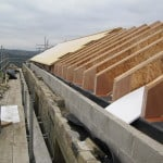 Insulation in roof at Stirley Community Farm barn