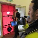 Airtightness test at Cre8 Barn