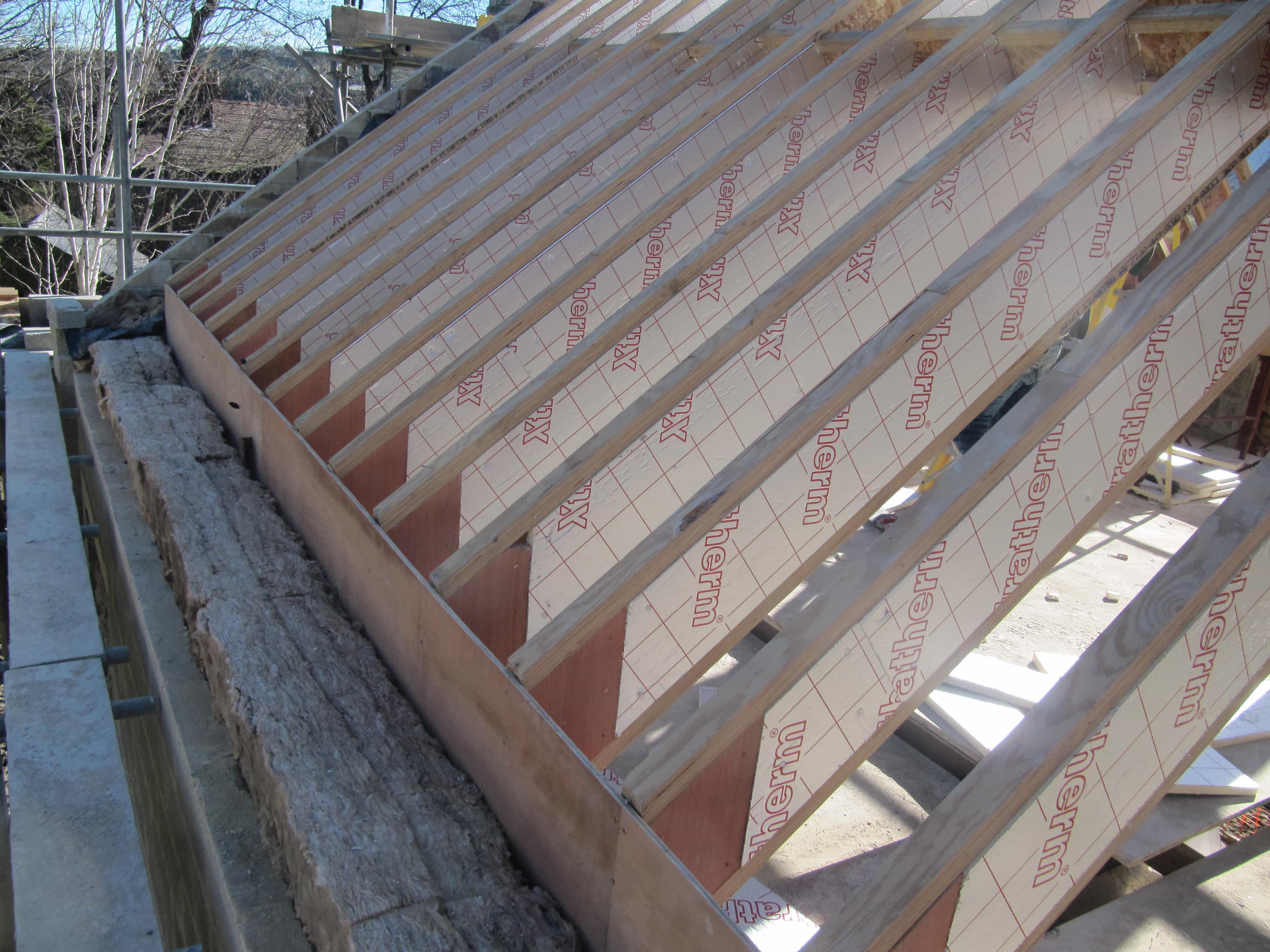 Golcar passivhaus roof strategy green building store for Rafter beam
