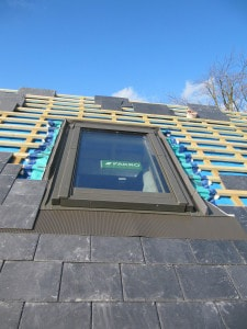 Rooflight at Golcar Passivhaus