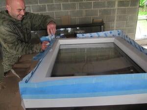 Fixing Pro Clima airtightness tapes around PROGRESSION windows