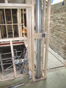 MVHR ducting at Lower Royd radical retrofit