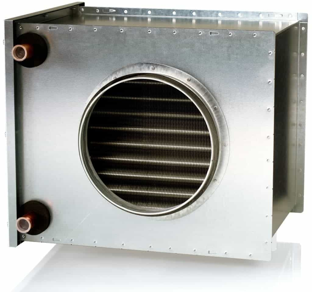 Supply Air Heater Water Heated For Mvhr Systems Green