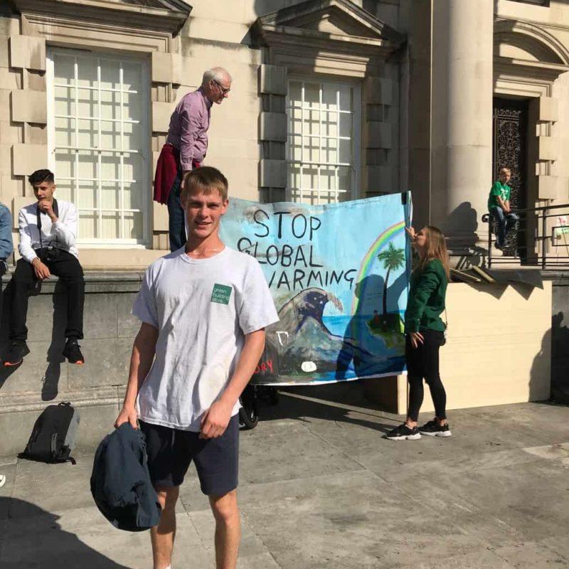 Isaac at Leeds Global Climate Strike