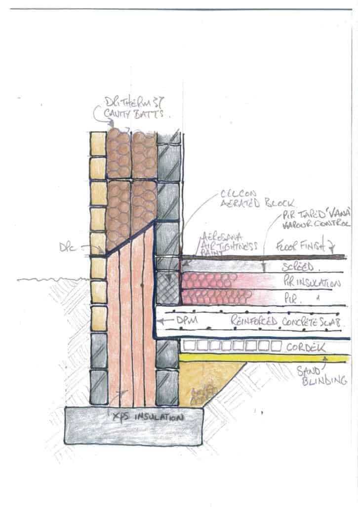 Kirkburton Passivhaus Floor detail