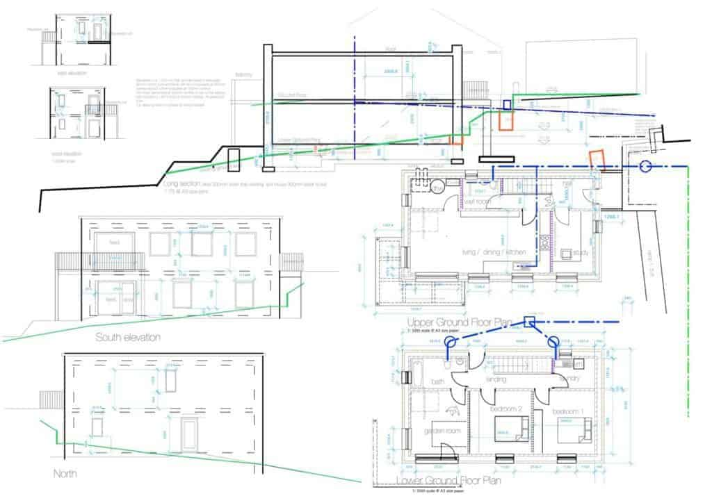 Kirkburton Passivhaus plans and elevations