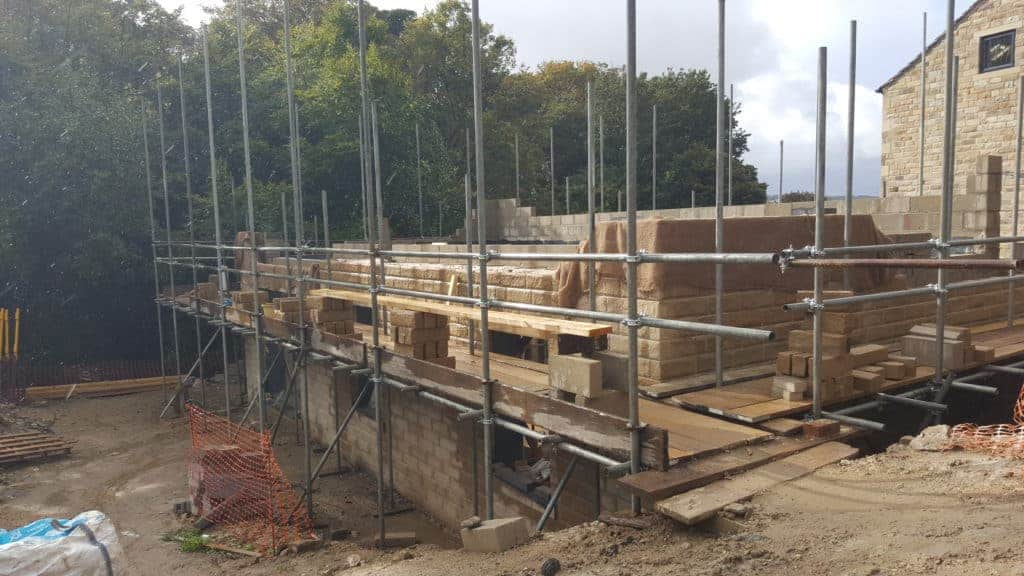 Kirkburton Passivhaus under construction