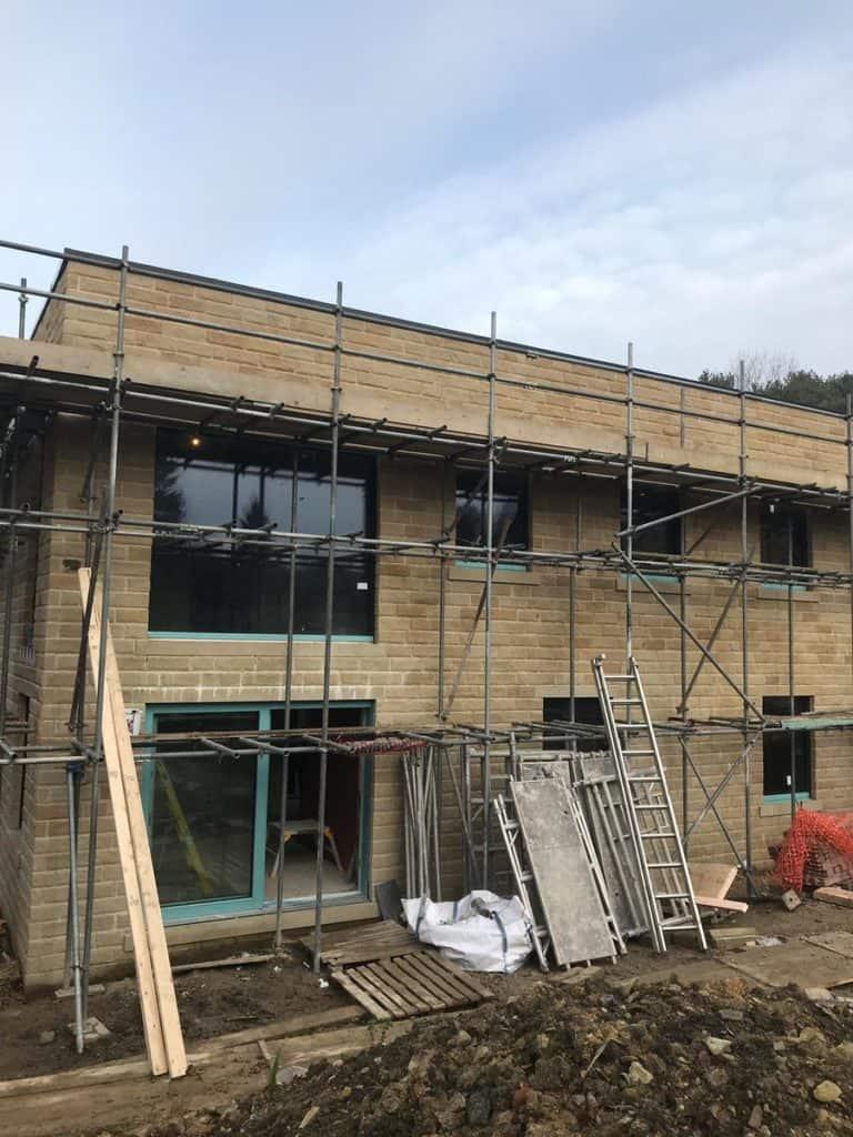 Kirkburton Passivhaus window installation