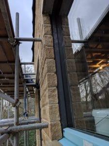 Kirkburton Passivhaus window installation detailing