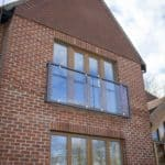 Low energy newbuild Berkshire Oak triple glazed windows