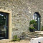 ULTRA triple glazed entrance doors at Lower Royd radical retrofit