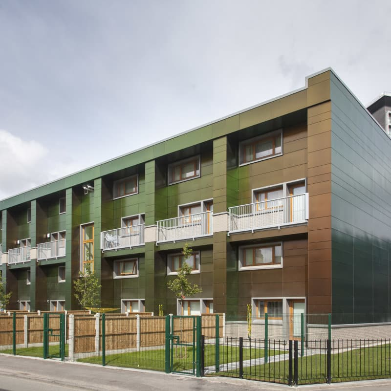 PERFORMANCE triple glazed timber windows and doors at Erneley Close EnerPHit project, Manchester. PHOTO: Eastlands Homes