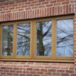 Oak triple glazed windows at Berkshire newbuild