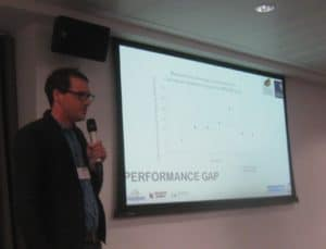 Oxford University slide on the performance gap at the UKPHC18 conference