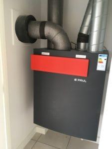 PAUL MVHR system at Wimbish II Affordable Passivhaus scheme