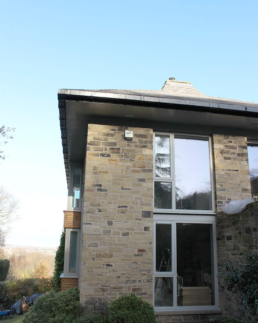 PERFORMANCE triple glazed timber windows & doors at Huddersfield radical retrofit