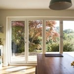 PERFORMANCE triple glazed timber bi-fold doors at Four Walls retrofit
