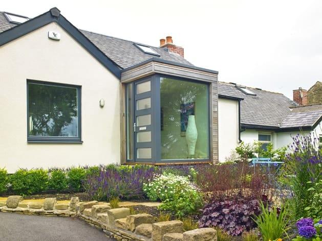PERFORMANCE triple glazed timber windows and doors at Huddersfield low energy retrofit - photo Iain Richardson