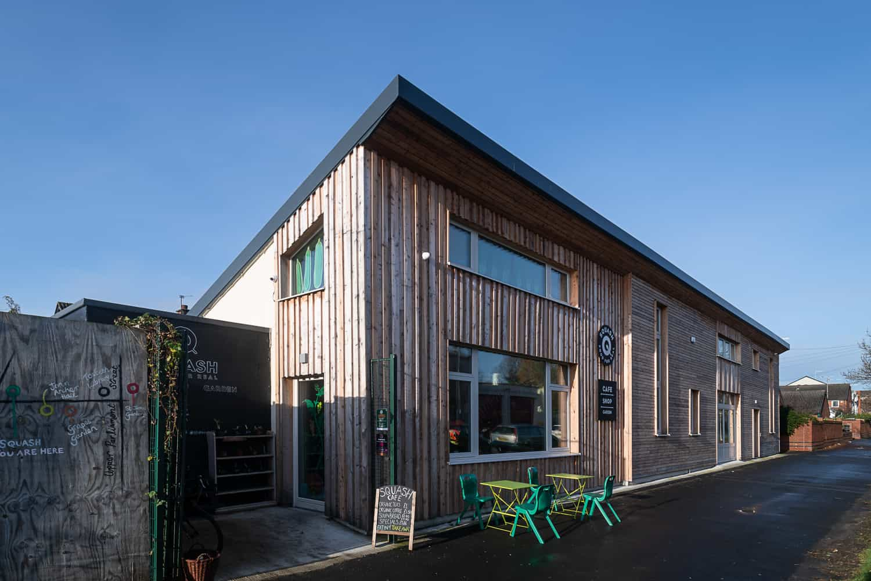 PERFORMANCE triple glazed timber windows and doors at Squash Food Hub
