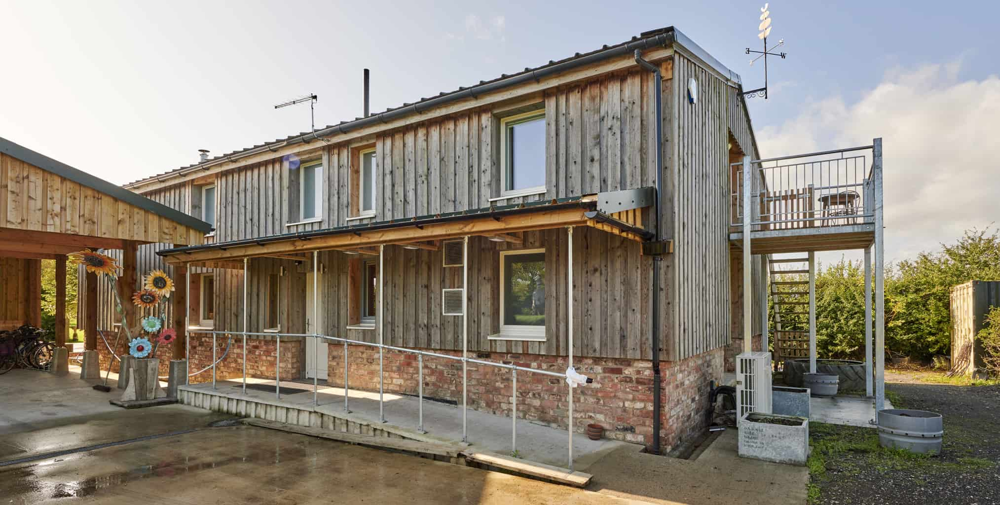 PERFORMANCE triple glazed timber windows and doors at energy efficient barn conversion