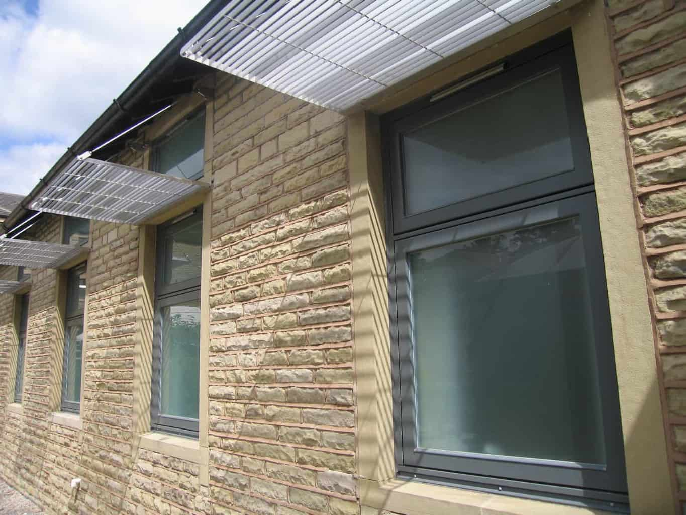 PERFORMANCE windows at Holme Valley Memorial Hospital