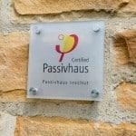 Passivhaus certificate Steel Farm Passivhaus