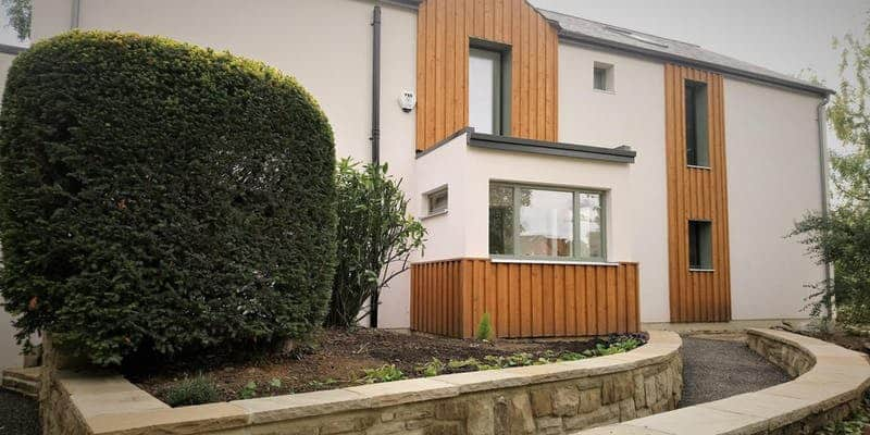 Roundhay Passivhaus Leeds with triple glazed timber windows and doors