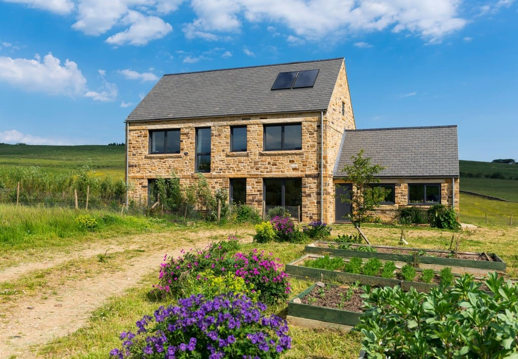 Steel farm passivhaus northumberland green building store for Farm house construction