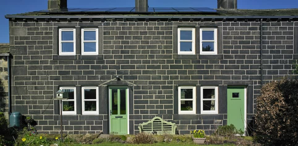 Triple glazed timber windows Yorkshire cottage