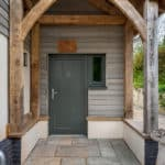 ULTRA triple glazed timber windows and doors at oak frame newbuild Devon